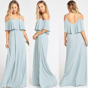 Show Me Your Mumu Caitlin Dress Silver Sage M